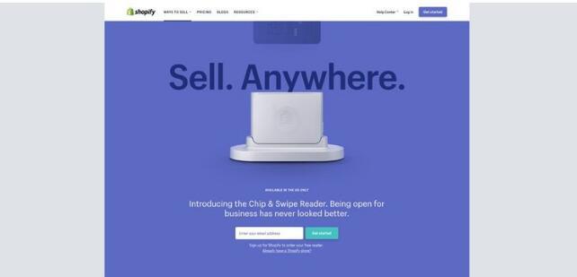 Shopify Credit Card Reader细节突破格局-网页排版设计欣赏