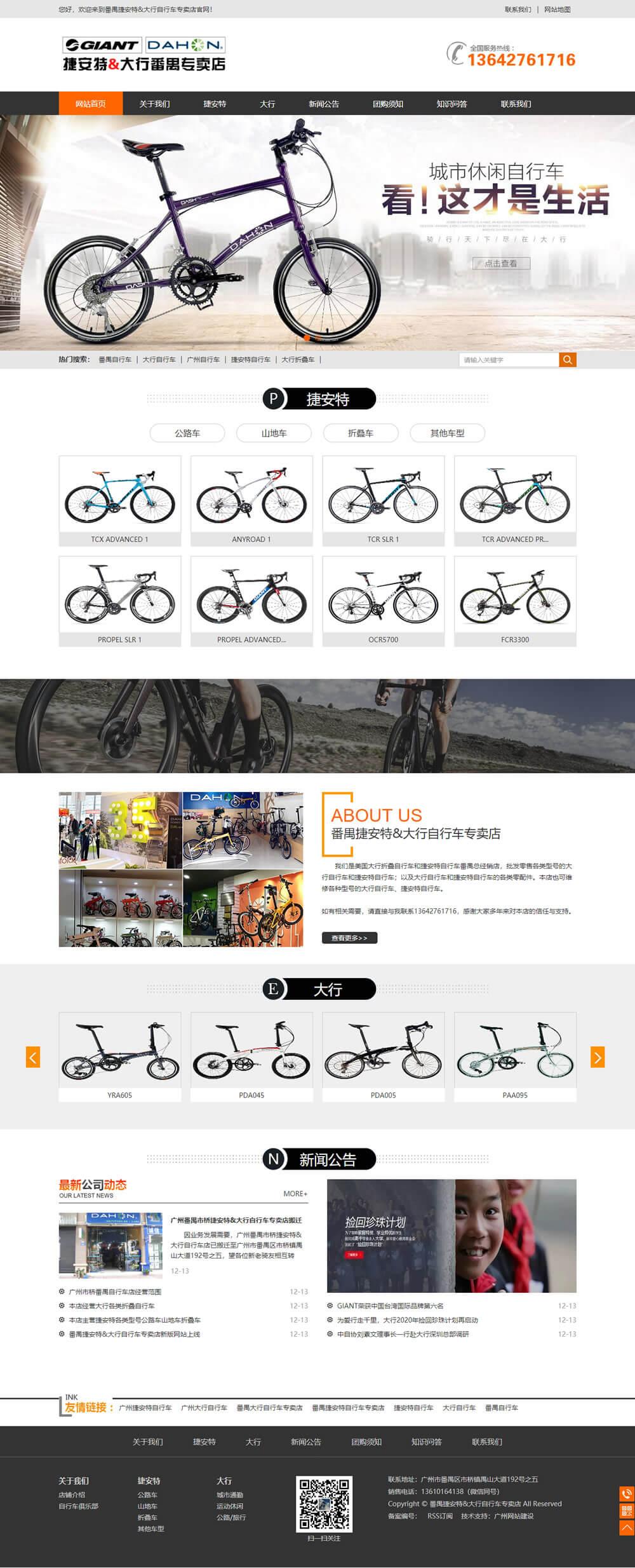 大行捷安特自行车